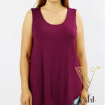 Plus Sleeveless Rayon Top : 1XL | VAHL