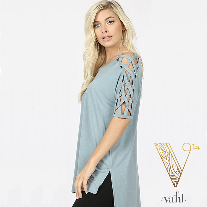 Lattice Sleeve Hi-Lo : Plus | VAHL