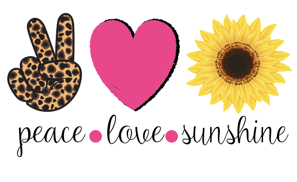Peace Love Sunshine Sublimation Transfer