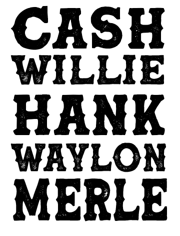 Cash Willie Hank Sublimation Transfer