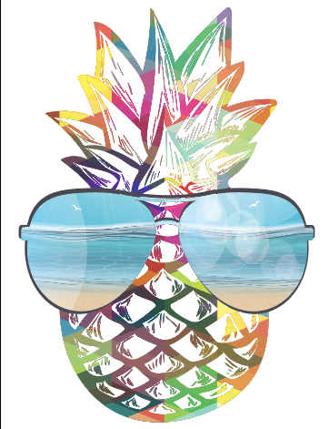 Beach Pinepple Sublimation Transfer