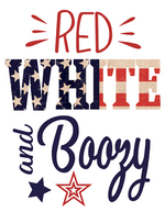 Red White Boozy Sublimation Transfer