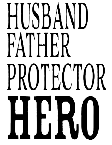 Husband Hero Sublimation Transfer
