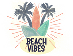 Beach Vibes Sublimation Transfer