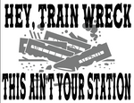 Train Wreck Sublimation Transfer
