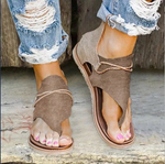 Strappy Zippered Back Sandals