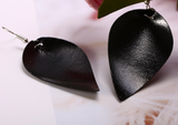 Leather Teardrop Earrings | VAHL