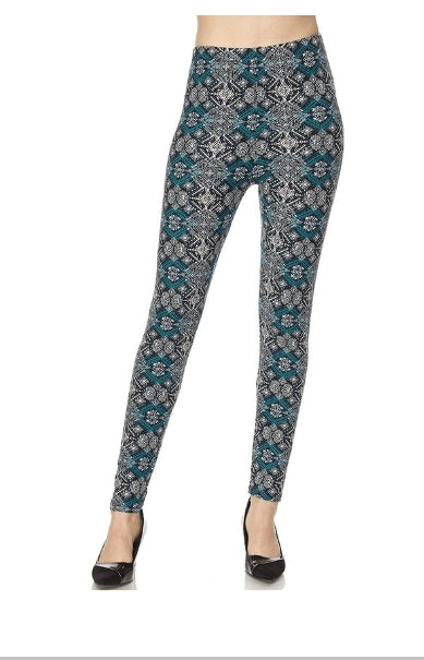 Plus Print Legging: Athena
