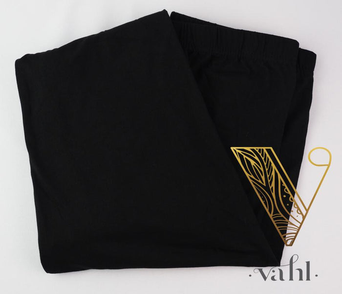 Extended Plus Solid Black Leggings: Pre-Order | VAHL