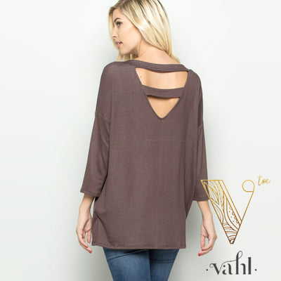 Ladder Back V-Neck Top | VAHL