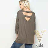 Ladder Back V-Neck Top : Small | VAHL