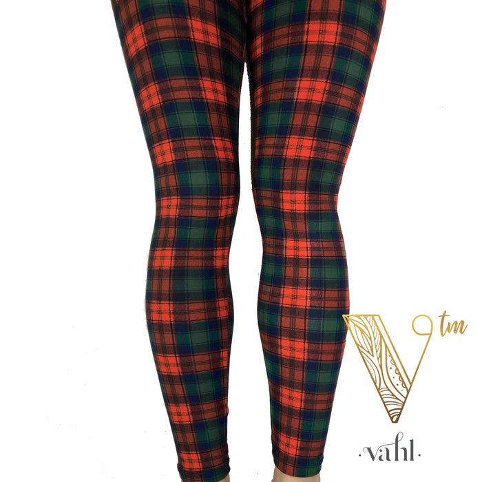 Misses Plaid Leggings - Wide Band : Tartan | VAHL