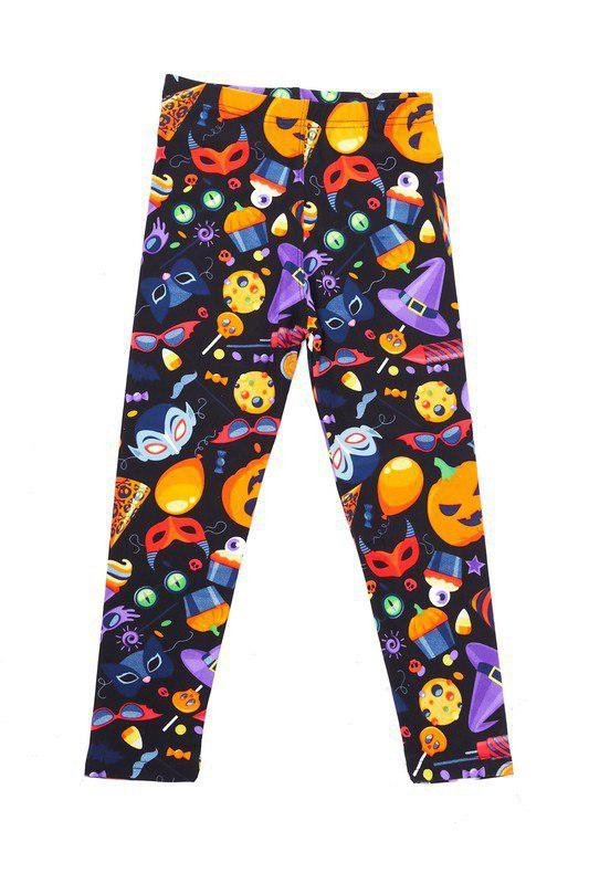 Kid's Print Leggings - Medium-Transylvania