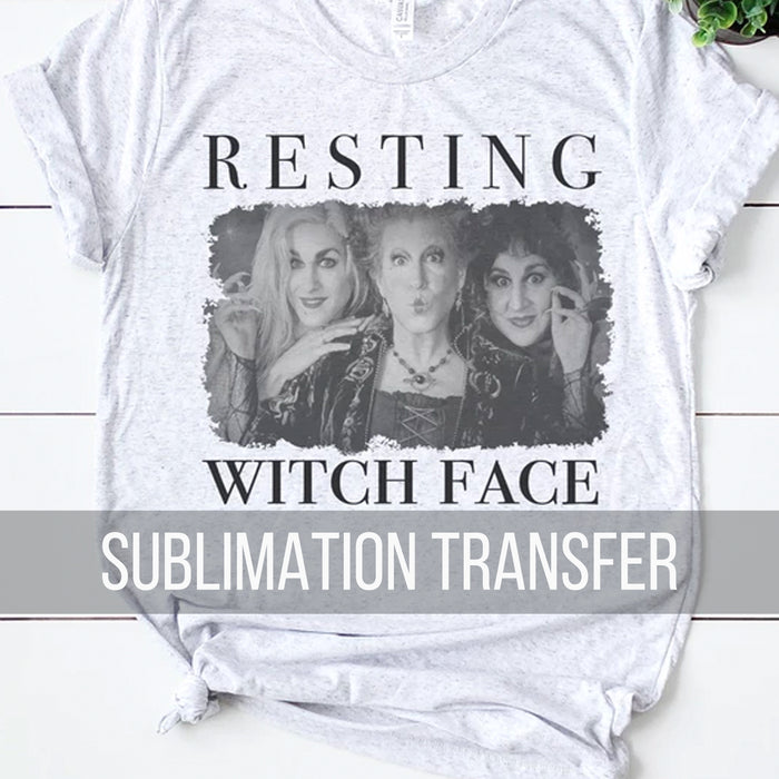 Sanderson Sisters Sublimation Transfer : Resting Witch Face