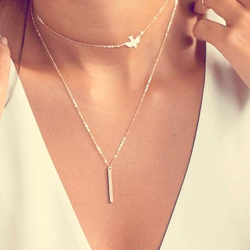 2 Tier Dove and Pendant Necklace | VAHL