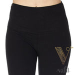 Misses Solid Black Leggings: Pre-Order - Wide Band | VAHL