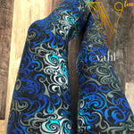 Misses Geometric Leggings - Yoga Band : Blue Swirl | VAHL