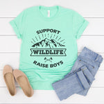 Support Wildlife Raise Boys Graphic Tee
