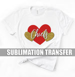 Chiefs Glitter Sublimation Transfer
