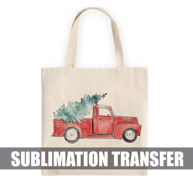 Christmas Truck Sublimation Transfer