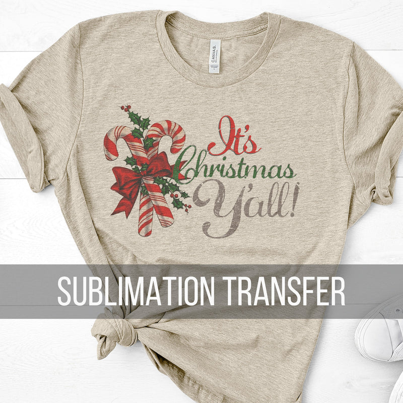 Christmas Yall Sublimation Transfer