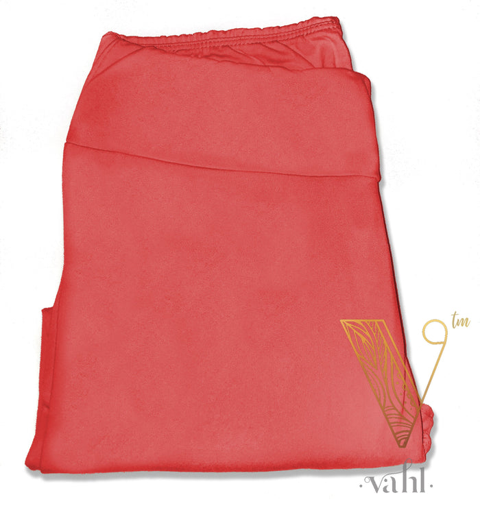 Misses Solid Leggings - Yoga Band : Coral