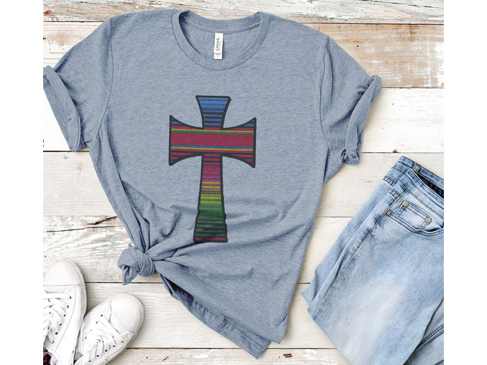 Serape Cross Graphic Tee