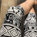 Plus Elephant Capri Leggings: Zhan