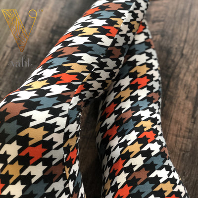 Kid's Houndstooth Leggings - Medium : Fall Houndstooth | VAHL