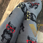 Plus Dog Print Leggings - Frenchie