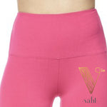 Plus Solid Fuchsia Leggings - Wide Band