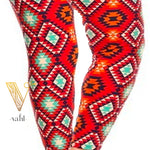 Misses Aztec Capri Leggings: Gwendolyn | VAHL