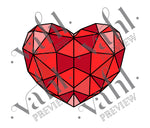 Geometric Heart Valenteine SVG | Digital Download : VAHL | VAHL