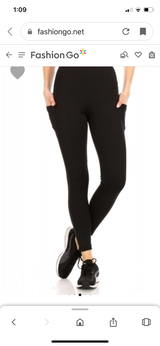 Misses Solid Key Pocket Leggings Pre-Order