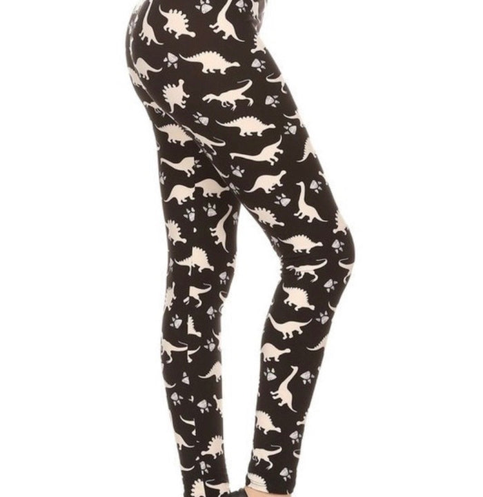 Plus Print Leggings : Dynomite
