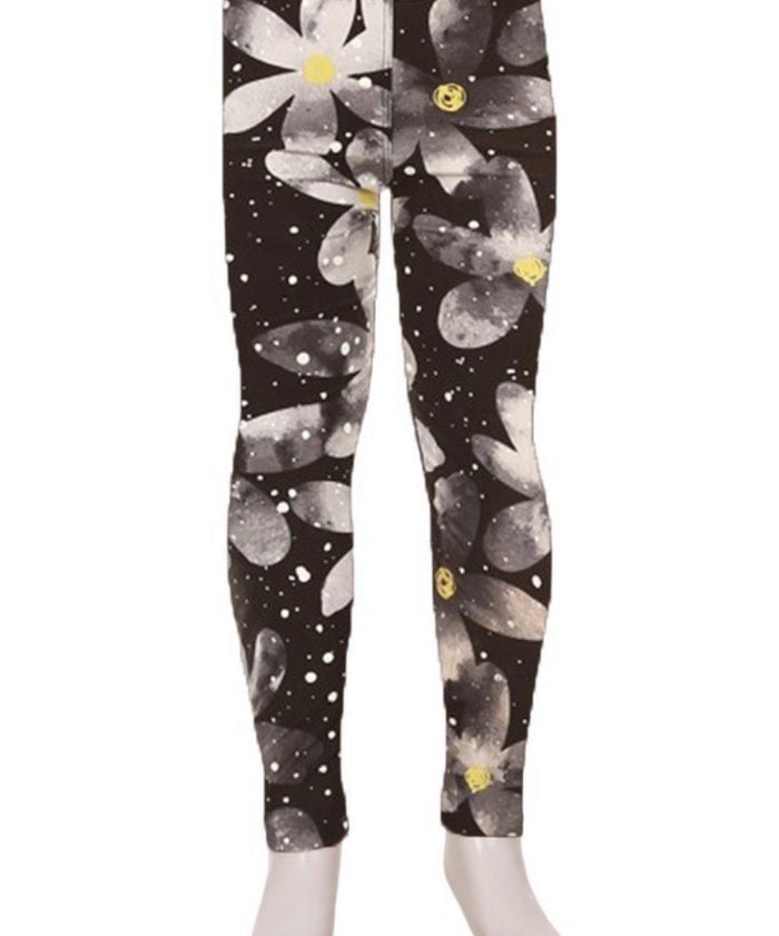 Kid's Print Leggings L/XL : Moon Flower Pre-Order
