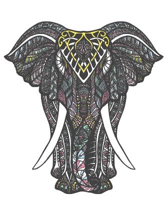 Mandala Elephant: Sublimation Transfer