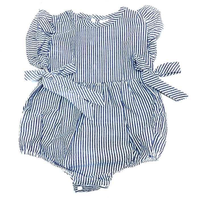 Striped Ruffle Rompers