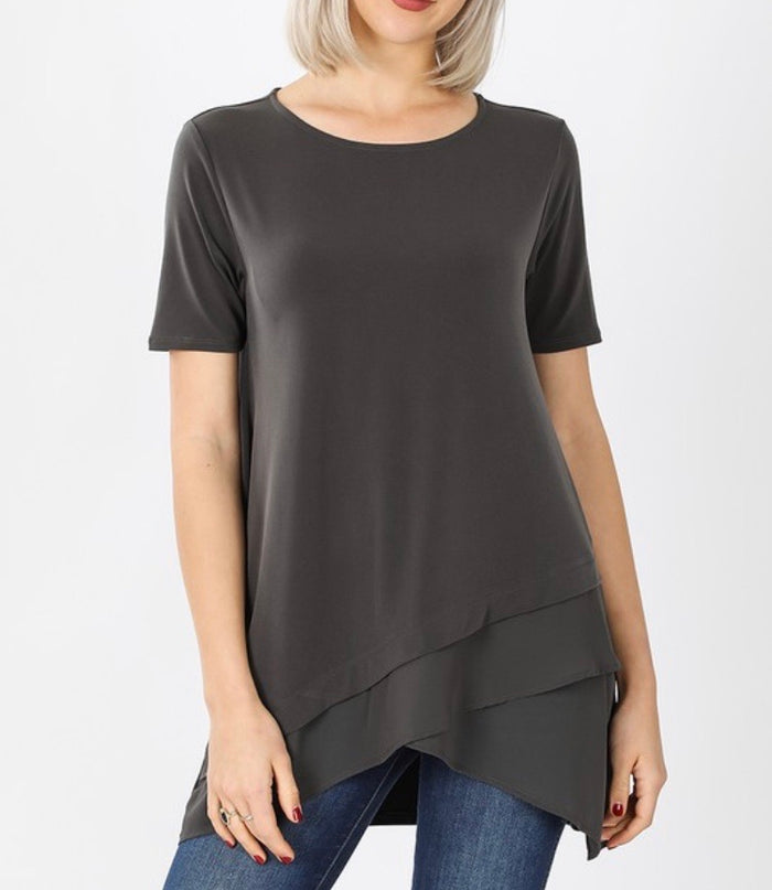 Plus Chiffon Bottom Top