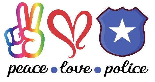 Peace Love Police Sublimation Transfer