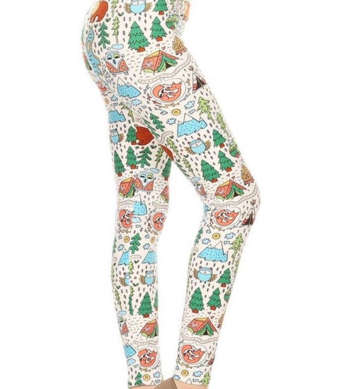 Kid's Print Leggings L/XL : Tranquility