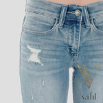 Relaxed Fit Cropped Denim : Size 15 | VAHL