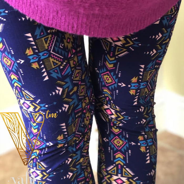 Misses Geometric Leggings: Karishma | VAHL