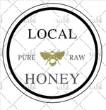 Pure Honey Digital Download SVG - Local Fresh Honey Sign Digital Download
