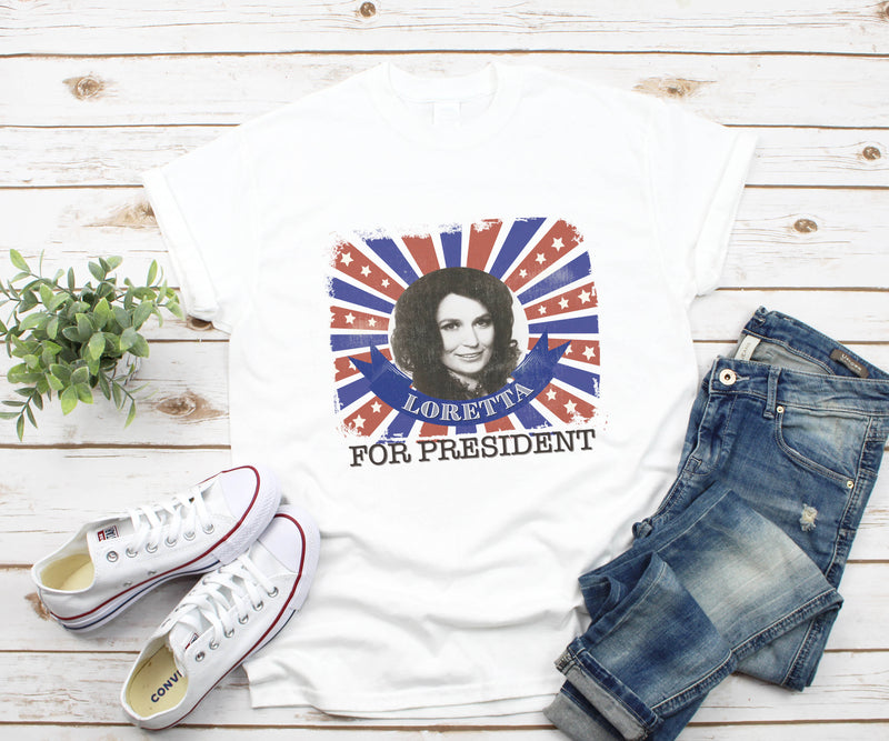 Loretta For President Graphic Tee | VAHL