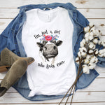 Adult And Children's Graphic Tee : A Girl Who Loves Cows | VAHL