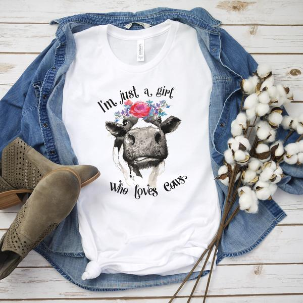 A Girl Who Loves Cows : Sublimation Transfer | VAHL