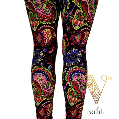 Misses Bright Paisley Leggings: Maryah | VAHL
