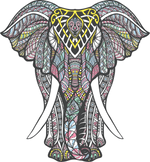 Mandala Elephant Digital Download