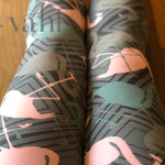 Plus Flamingo Leggings - Yoga Band : Marimba